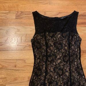 Armani Exchange Black Lace Dress